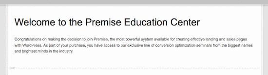 premise education