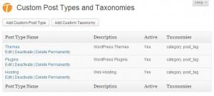 Types Plugin - Custom Post Types