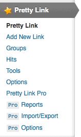 Pretty Link Pro Tabs