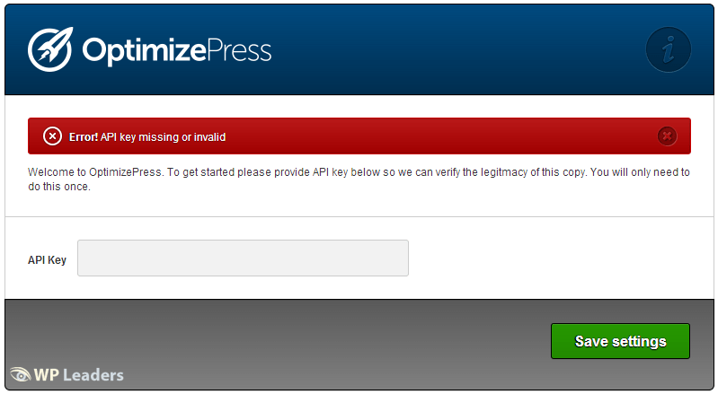 OptimizePress Plugin API License Key
