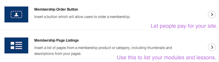Membership elements