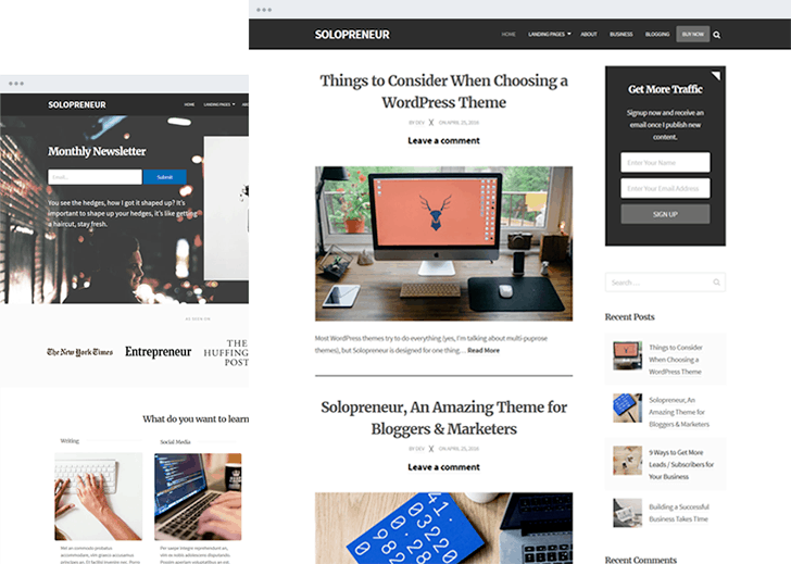 SoloPreneir Theme for WordPress