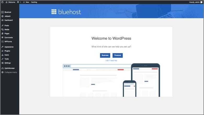 install wordpress bluehost 2018