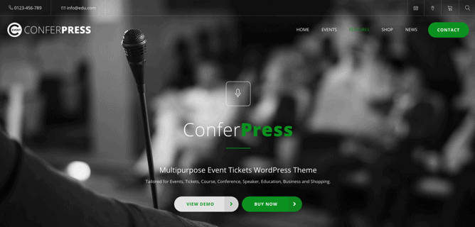 30+ Best Events & Conference Themes for WordPress (2019