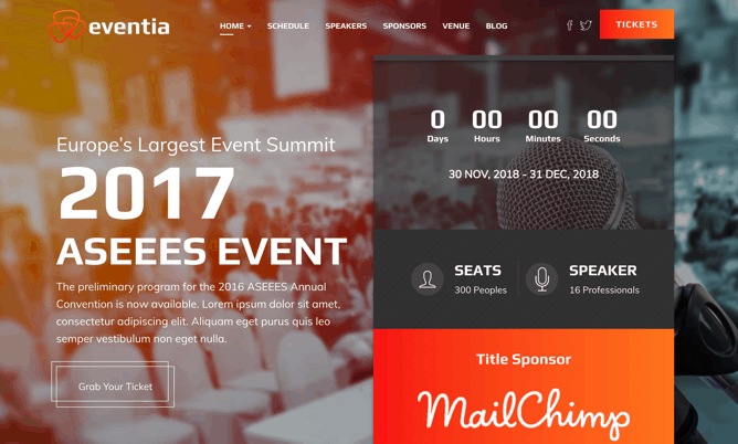 30+ Best Events & Conference Themes for WordPress (2019) – WPLeaders