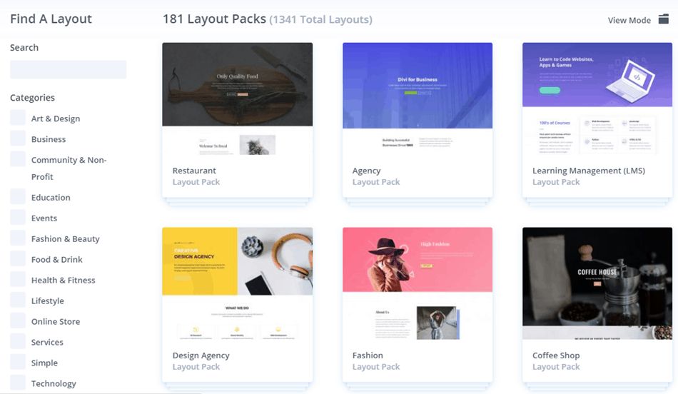 Divi Builder - Templates