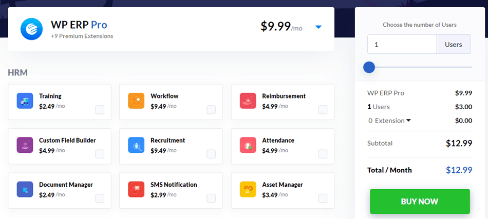 WP ERP - Pricing