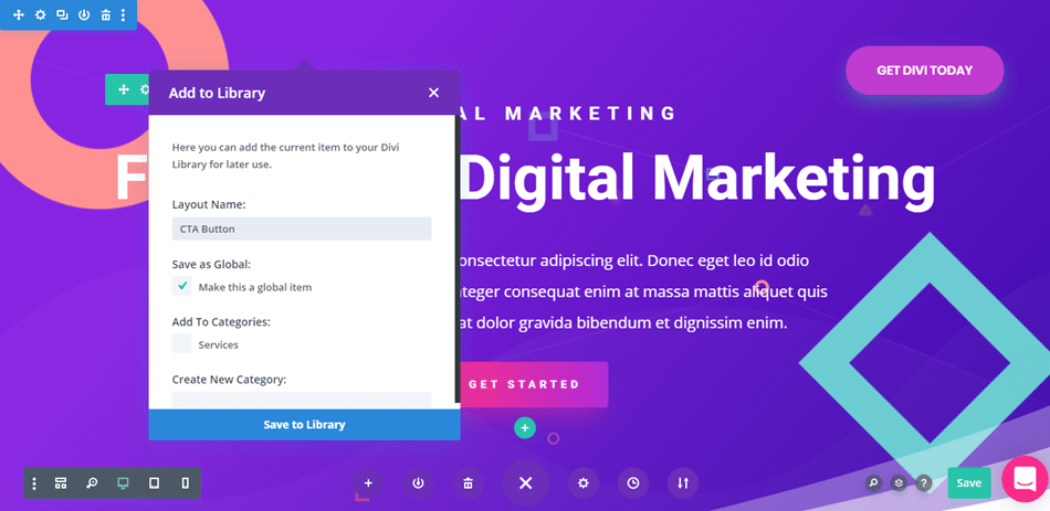 Divi - Global Elements