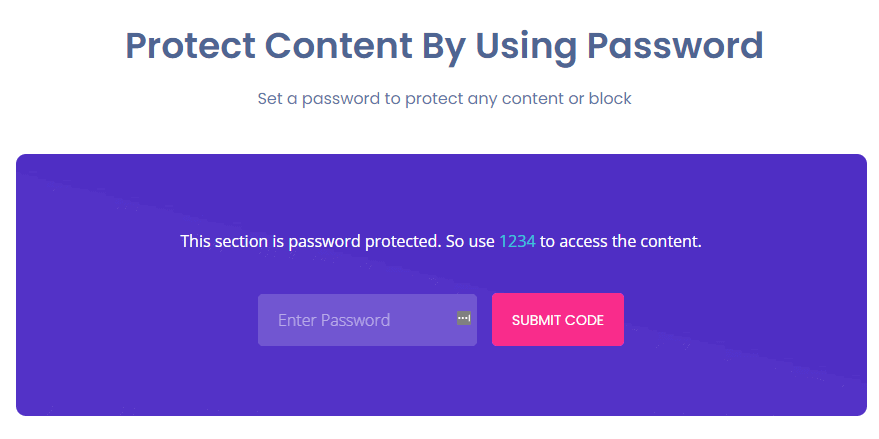 Essential Addons - Protected Content