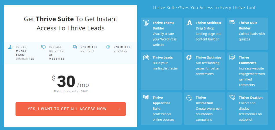 Thrive Leads - Pricing